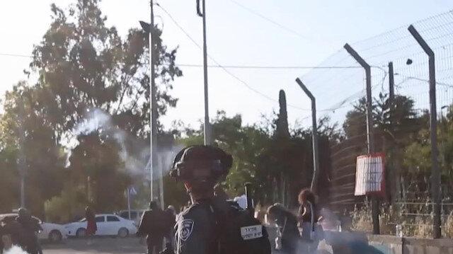 İşgalci İsrail güçleri Şeyh Cerrah Mahallesi'nde Filistinlilere saldırdı