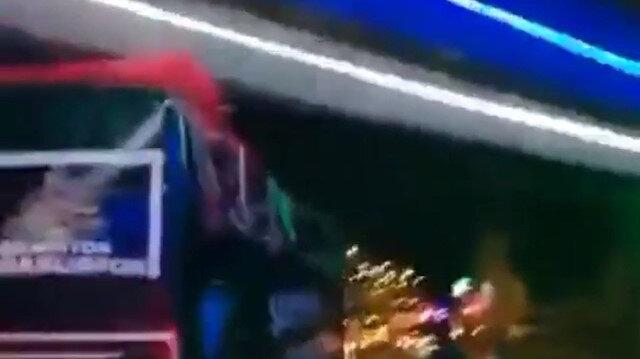 Kutlama sırasında Kocaelisporlu futbolcu Bahri Can Avcı takım otobüsünden düşerek yaralandı