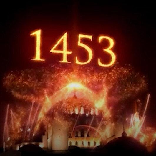Türkiyede bir ilk: Fetih kutlamaları simge mekanlarda görsel şölene dönüştü