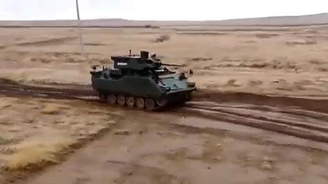 TSK'nın gücüne güç katmaya devam: Zırhlı muharebe aracı testi başarıyla geçti