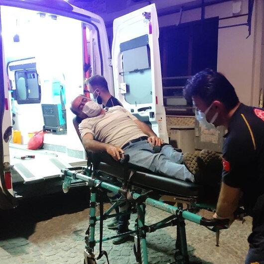 Denizlide kumar masasında polise yakalanan tansiyon hastası fenalaştı