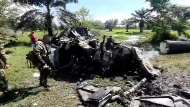 Kolombiya'da helikopter düştü: 5 narkotik polisi hayatını kaybetti