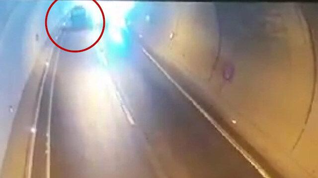 Ters yönden tünele giren sürücü karşıdan gelen araçla kafa kafaya çarpıştı: 3 ölü, 1 yaralı