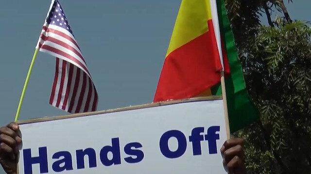 Etiyopya kökenli ABD vatandaşları ABD'yi protesto etti