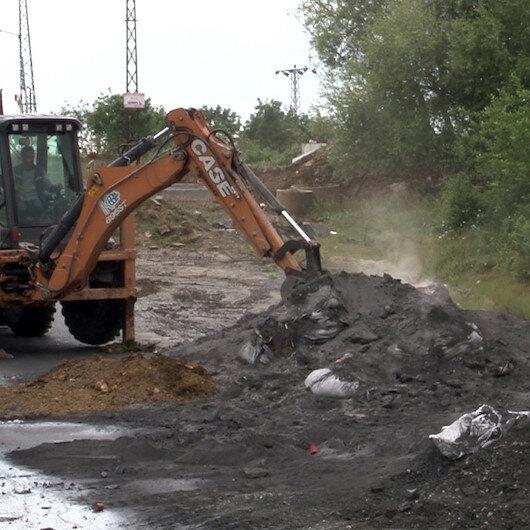 Başakşehir'de kimyasal atık alarmı: Üzeri toprakla örtüldü