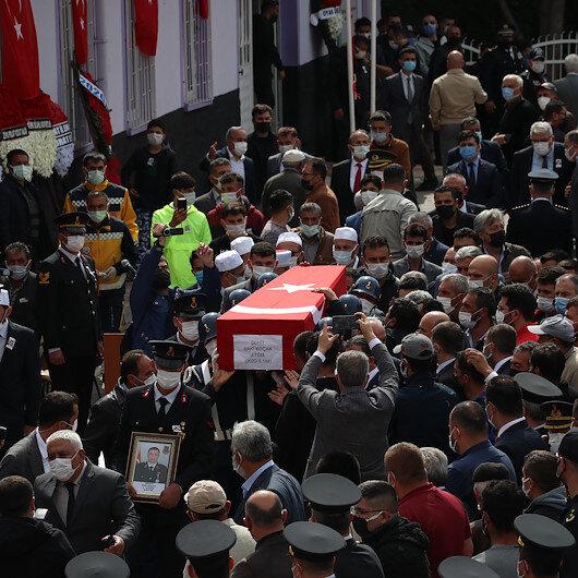 Şehit Jandarma Teğmen Baki Koçak'a gözyaşlarıyla veda: Dualarla son yolculuğuna uğurlandı