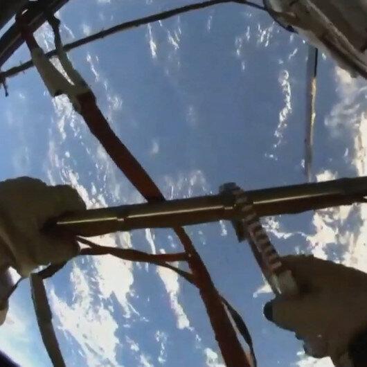 Kozmonotlar uzay yürüyüşüne çıktı: Dünya uzaydan böyle görüntülendi