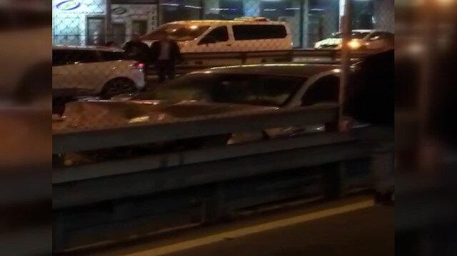 Avcılar'da zincirleme kaza: 5 araç birbirine girdi