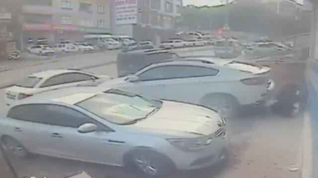 Eyüpsultan'da kafeteryaya silahlı saldırı kamerada