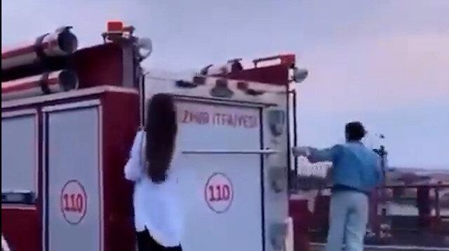 İzmir Büyükşehir Belediyesi yetkilileri alkol alıp itfaiye araçlarını kullanarak eğlendi