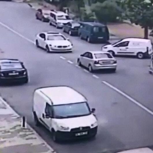Maltepede hırsız çaldığı araçla kaza yapıp kaçtı