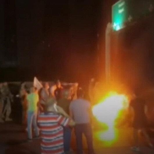 Ekonomik kriz nedeniyle dolar hesaplarından para çekemeyen Lübnanlılar bankaları protesto etti