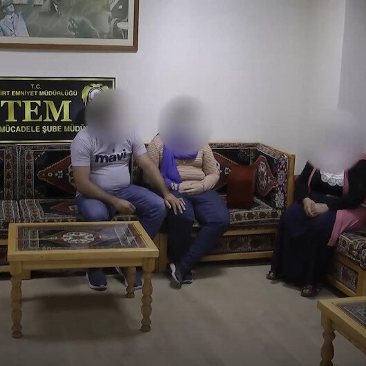 Siirtte ikna çalışmaları sonucu teslim olan terörist ailesiyle buluşturuldu