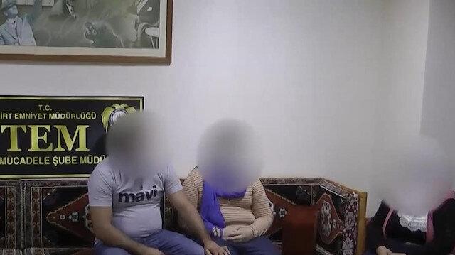 Siirt'te ikna çalışmaları sonucu teslim olan terörist ailesiyle buluşturuldu