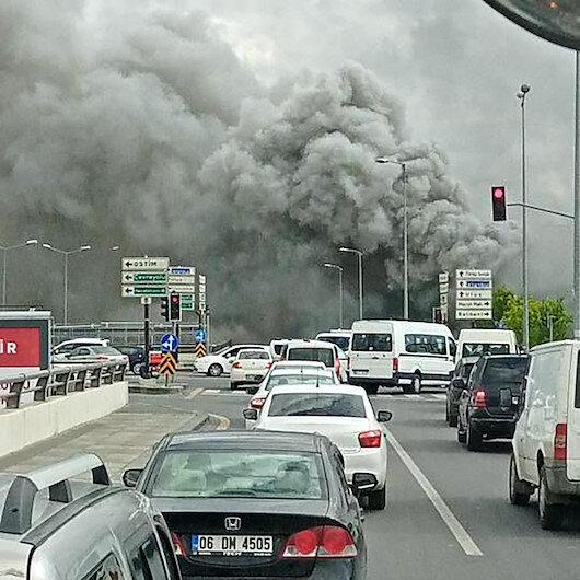 Ankarada kimyasal madde fabrikasında korkutan yangın