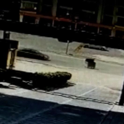 Malatyada ilginç kaza: Otomobil rüzgarın yola ittiği çöp konteynerine çarptı