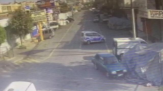 Tamire bırakılan polis otosuyla pitbull çaldılar