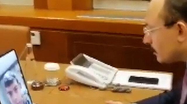 Bakan Muş İzmir'de rehin alınan Sonyıldırım ile görüştü