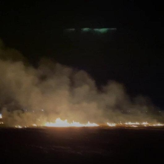 Mardinde buğday tarlasında yangın çıktı