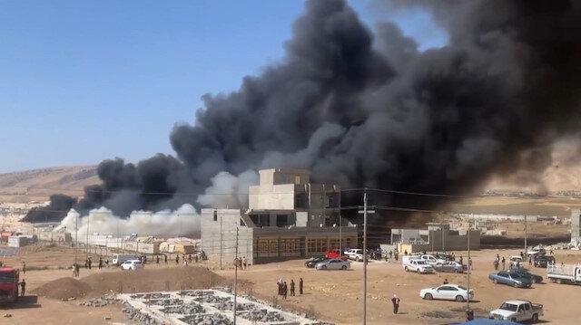 Irak'ta göçmen kampında büyük yangın: 400 çadır kül oldu