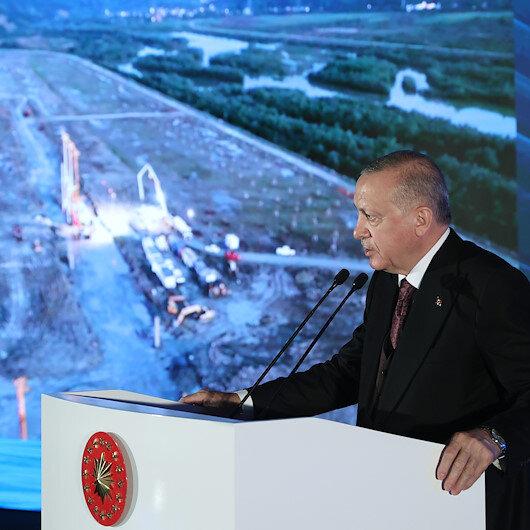 Cumhurbaşkanı Erdoğanın katılımıyla doğal gaz işleme tesislerinin temeli atıldı