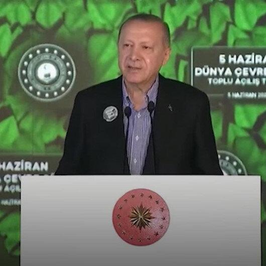 Cumhurbaşkanı Erdoğan: Çevre alanında da büyük ve güçlü Türkiyenin inşasını, ilhamını kadim medeniyetimizden alan bir anlayışla süratlendirmeliyiz