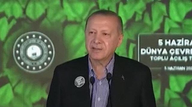 Cumhurbaşkanı Erdoğan: Çevre alanında da büyük ve güçlü Türkiye'nin inşasını, ilhamını kadim medeniyetimizden alan bir anlayışla süratlendirmeliyiz