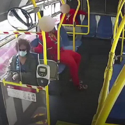 San Franciscoda otobüsteki gencin kadın yolcunun saçlarını yaktığı anlar kamerada