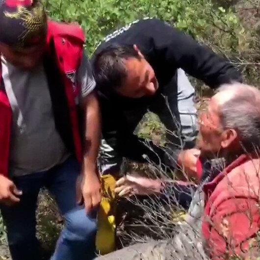 Kaybolan yaşlı adam 6 kilometre uzaklıktaki ormanda bulundu