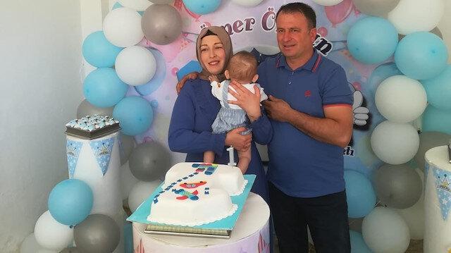 Dünyanın ilk kadavradan rahim nakliyle doğan Ömer Özkan bebek 1 yaşında