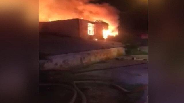Tavuk çiftliğindeki yangın büyük çapta hasara neden oldu
