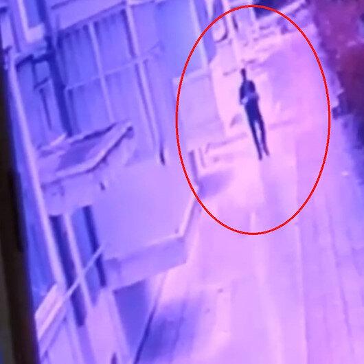 Kırık koluyla hırsızlık yapan şüpheli kamerada