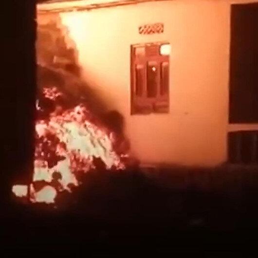 Kongoda patlayan yanardağdan püsküren lavlar evlere sıçradı