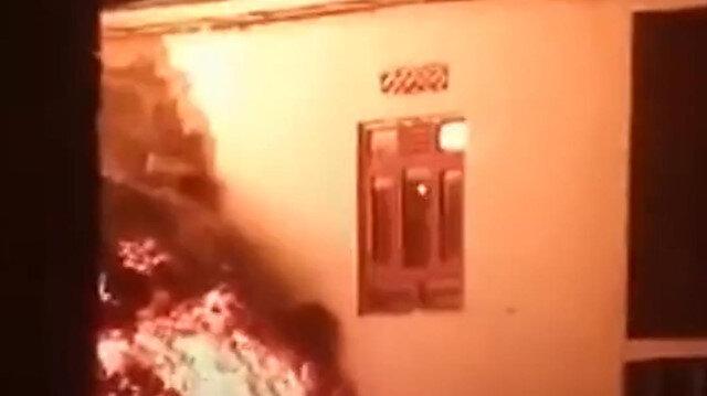 Kongo'da patlayan yanardağdan püsküren lavlar evlere sıçradı
