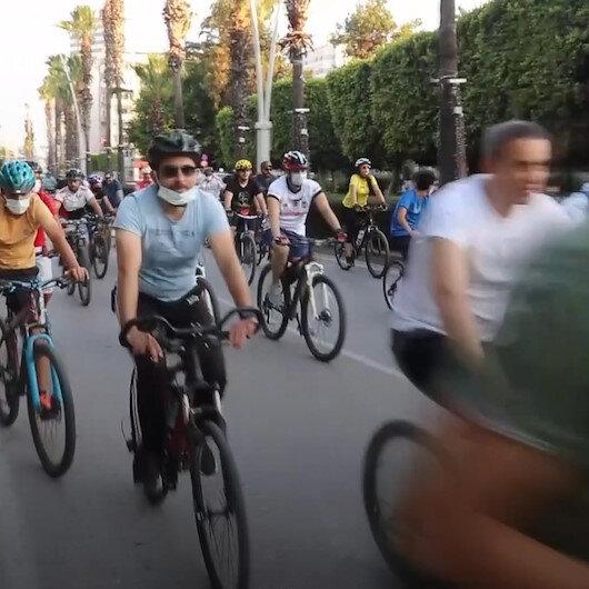 Adanada Gençlik ve Spor İl Müdürlüğü tarafından bisiklet sürme etkinliği düzenlendi