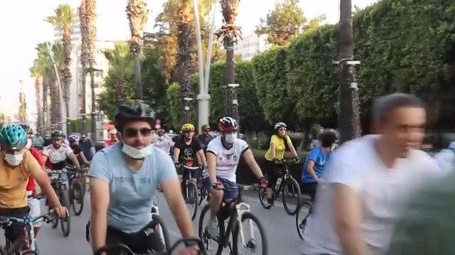 Adana'da Gençlik ve Spor İl Müdürlüğü tarafından bisiklet sürme etkinliği düzenlendi