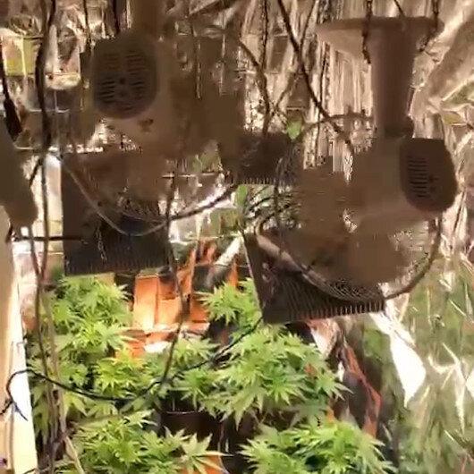 Bahçelievlerde uyuşturucu operasyonu: Evin içini uyuşturucu serasına çevirmiş