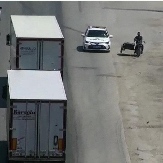 Hatayda polisle plakasız motosikletlinin film sahnelerini aratmayan kovalamacası