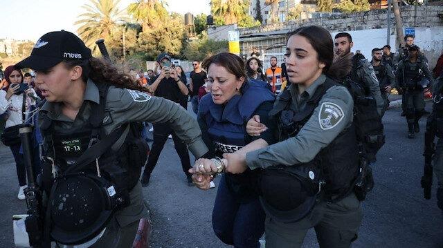Kudüs'teki gazeteciler hedefte