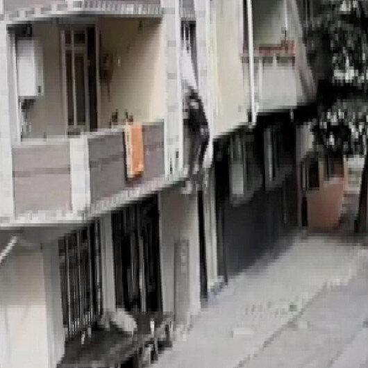Avcılar'da bastığı kiriş kırılan hırsız 2 metreden aşağı böyle düştü