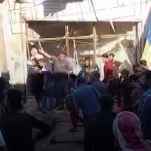 Halepte patlama: 1 ölü, 7 yaralı