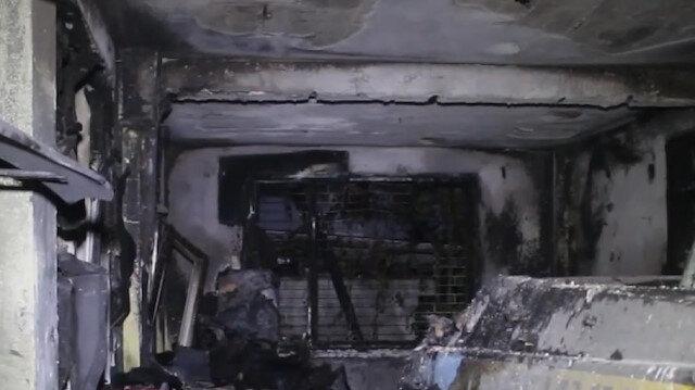 Adana'da oto tamirci dükkanında çıkan yangın söndürüldü