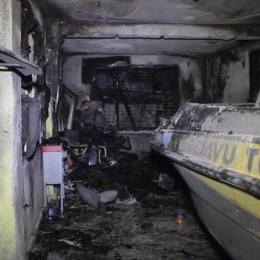 Adanada oto tamirci dükkanında çıkan yangın söndürüldü