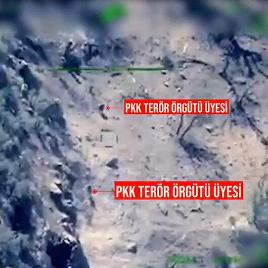 Teröristlerin saklanacakları bir delik yok: PKKlı 2 teröristin etkisiz hale getirildiği anlar