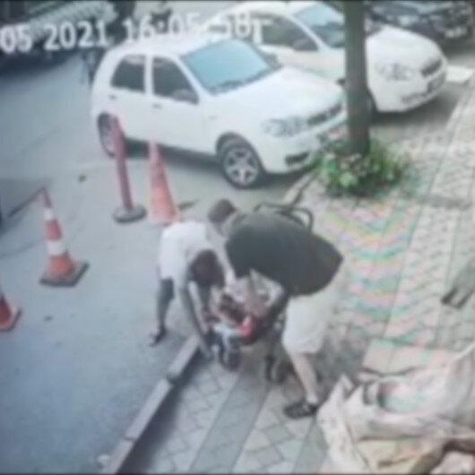 Yerde buldukları bin 300 lirayı bebek arabasıyla perdeleyerek alıp uzaklaştılar