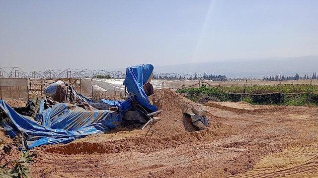 İsrail güçleri Filistinlilere ait sulama göletini imha etti