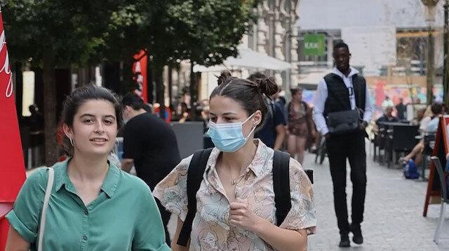 Brüksel'de açık havada maske takma zorunluluğu kaldırıldı