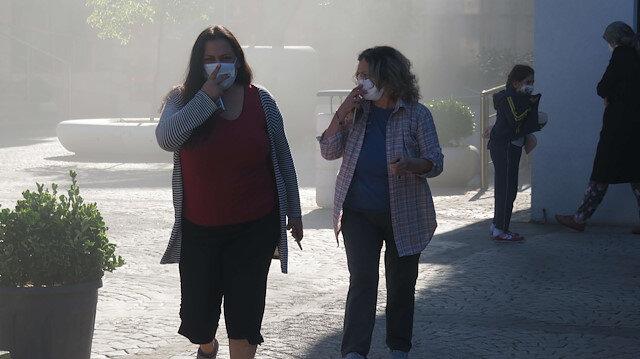 Ümraniye'de panik anları: Site sakinleri kendilerini evden dışarı attı