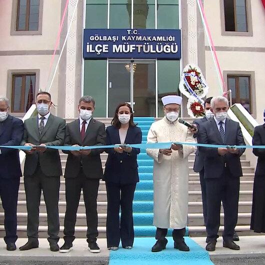 Diyanet İşleri Başkanı Erbaş, Gölbaşı İlçe Müftülüğünün yeni hizmet binasının açılışını yaptı