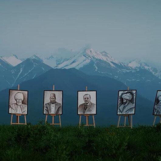 Kırgız sanatçıdan Büyük Türkiye marşı: Türk liderlerin yer aldığı klip büyük beğeni topladı